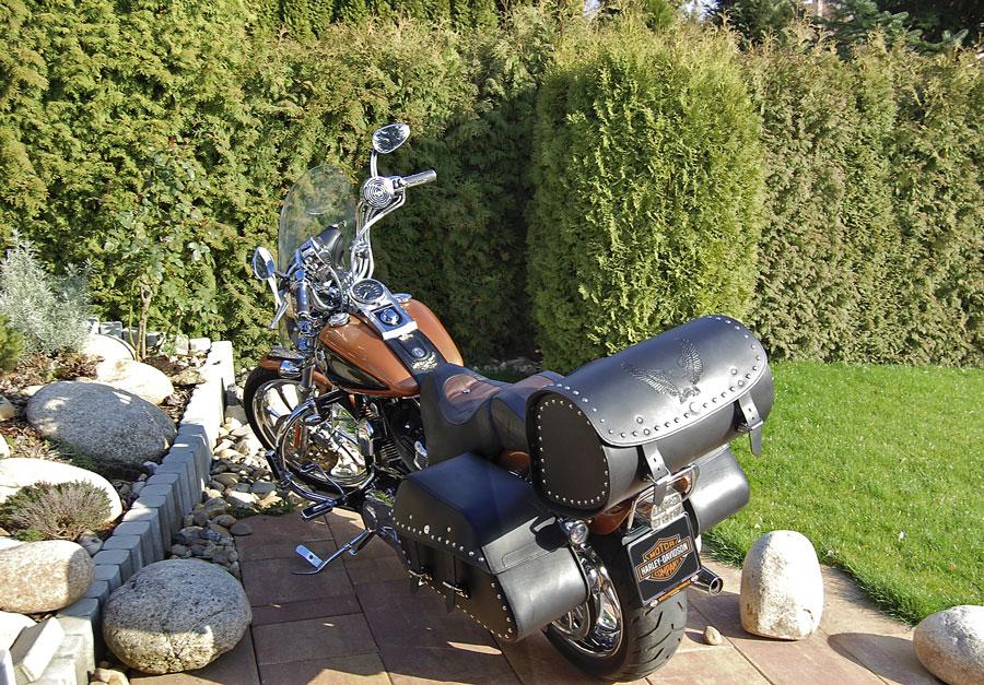 85945dca3c Harley Davidson Softail Custom - kožené dolňky